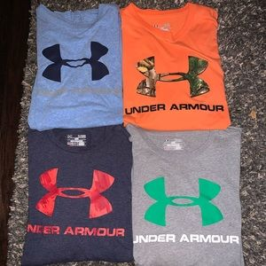 4 - XL under armor shirts